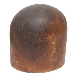Antique Mercantile Millinery Hat Head wood block mold