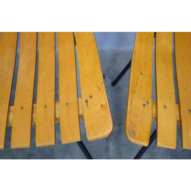 Arthur Umanoff Raymor Mid-Century Slat Chairs, Set/4 For Sale - Image 9 of 9