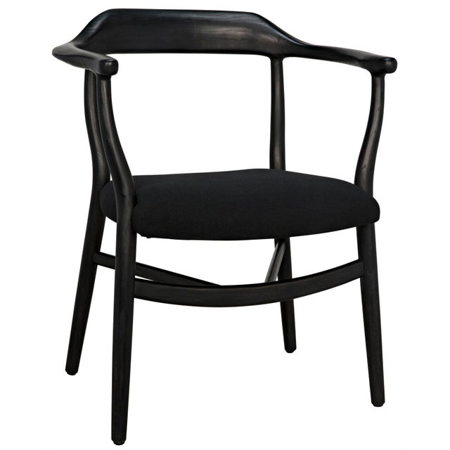 Wood Rey Chair, Charcoal Black For Sale - Image 7 of 7