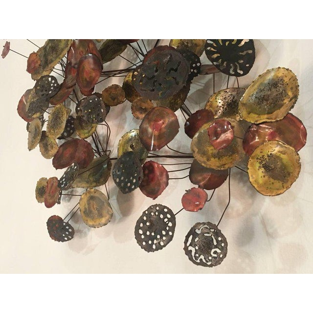 Mid 20th Century Brutalist Metal Raindrop Wall Sculpture For Sale - Image 5 of 11