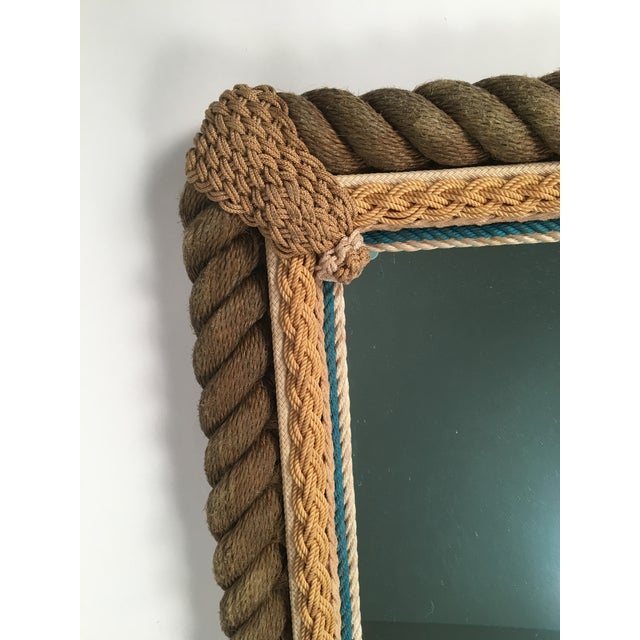 Sailor Made Nautical Ropework Mirror For Sale - Image 11 of 12