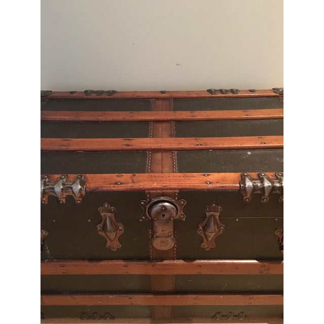 Antique English Steamer Trunk - Image 5 of 10