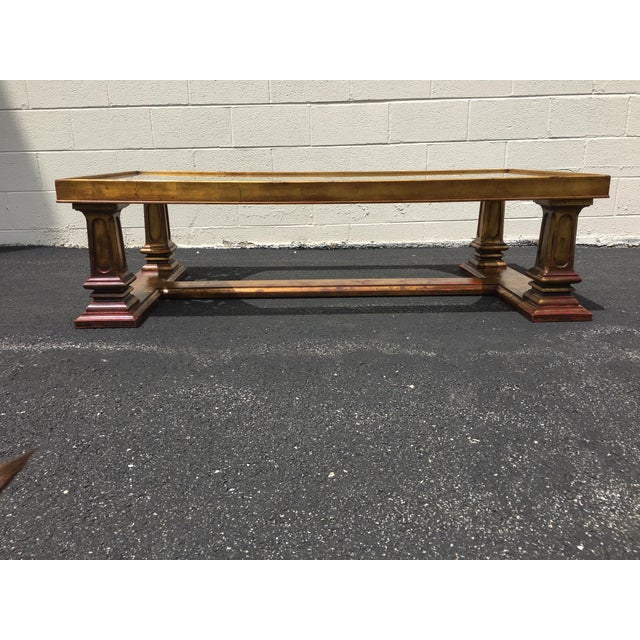Weiman Weiman Gilt Wood Chinoiserie Carved Coffee Table For Sale - Image 4 of 11