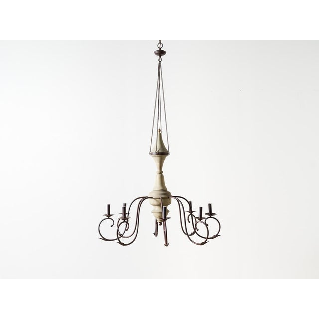 2010s Contemporary Marin Wooden Chandelier For Sale - Image 5 of 5