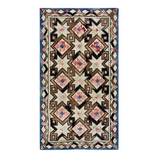 """Antique American Hooked Rug 8'4 X 14'4"""" For Sale"""