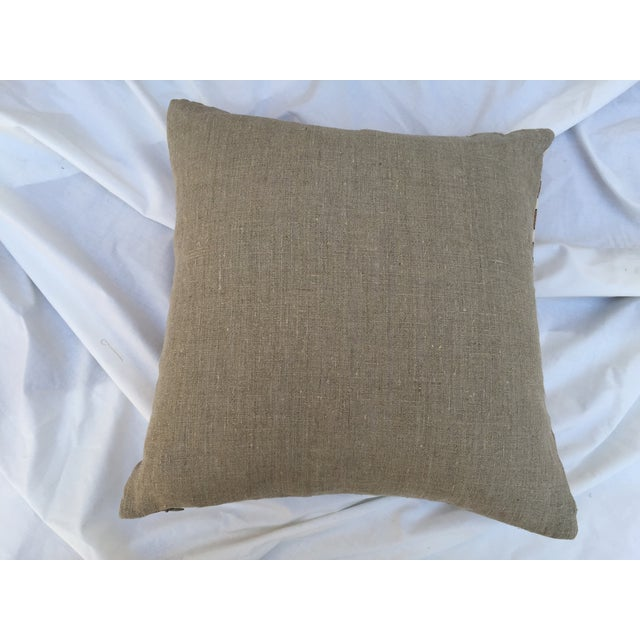 Striped Woven Neutral Pillows - Pair - Image 7 of 7