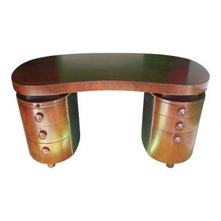 Art Deco Gilbert Rohde for Herman Miller Walnut Partner Desk For Sale