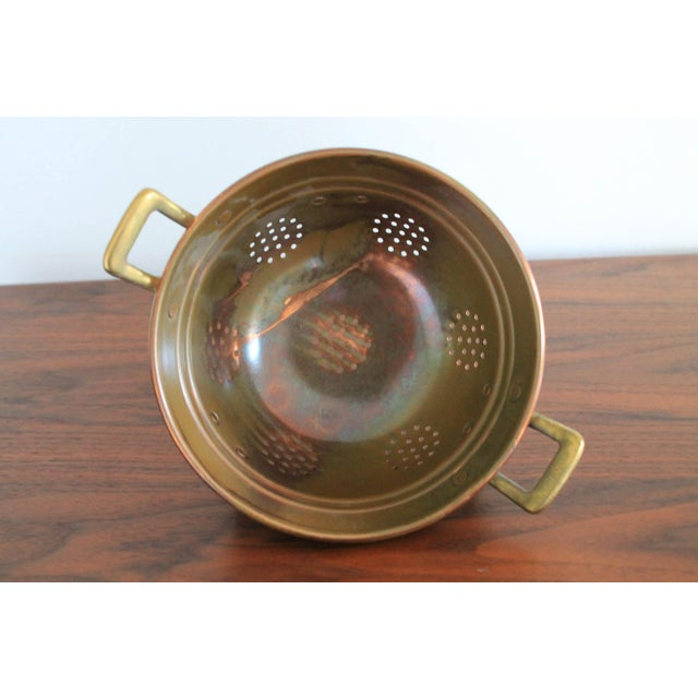 VintageCopper Colander For Sale - Image 4 of 8