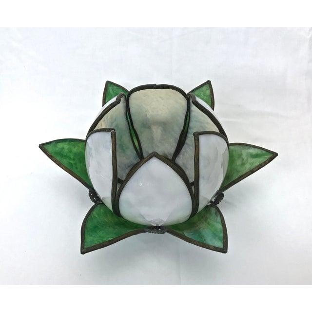 Vintage Slag Glass Tulip Light Shade - Image 5 of 8