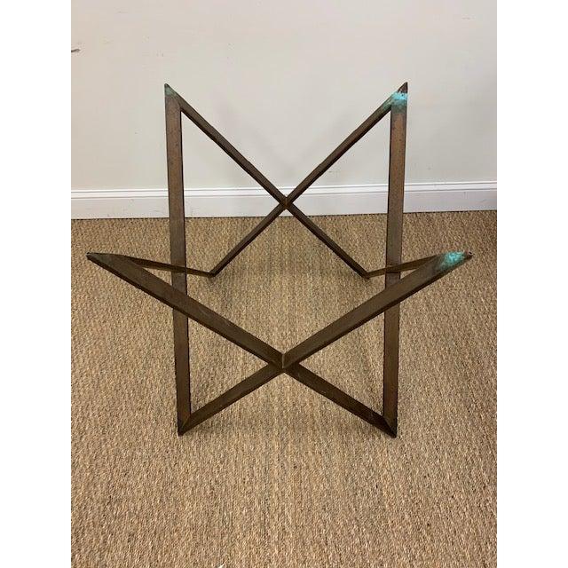 Mid 20th Century Mid Century Bronze Interlocking X Table Base For Sale - Image 5 of 12