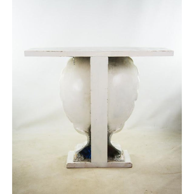Nautical Seashell White Lacquered Entryway Table - Image 4 of 11