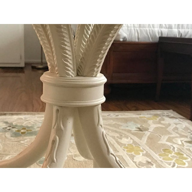 Painted White Bistro Side Table - Image 4 of 6