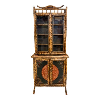 19th-C. English Aesthetic Movement Bamboo Cabinet For Sale