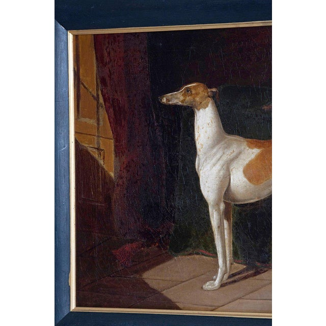 Early 19th Century English Whippet Oil Painting For Sale - Image 9 of 13