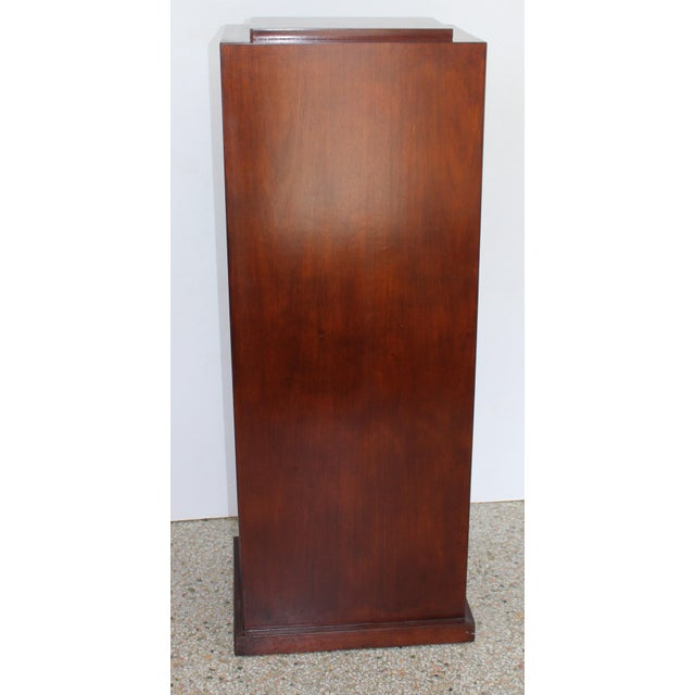 Vintage Mahogany Pedestal For Sale In West Palm - Image 6 of 13