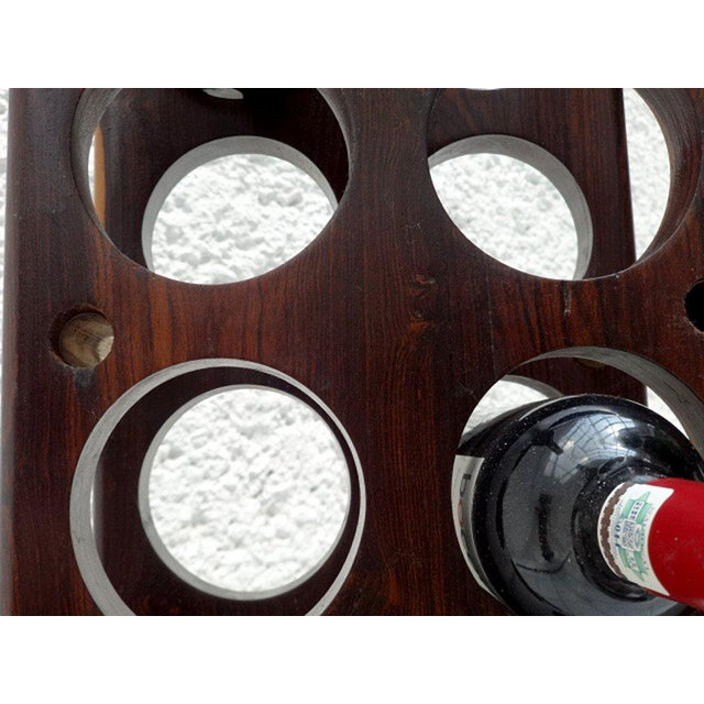 Brass Vintage Cocobolo Wine Rack For Sale - Image 7 of 8