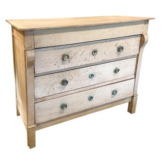19th Century Rustic Louis Philippe Stripped Wood Commode For Sale