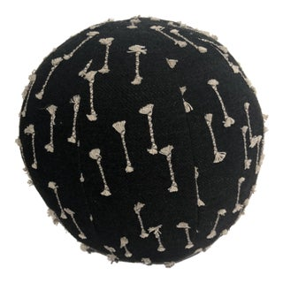 Black & White Ball Pillow For Sale