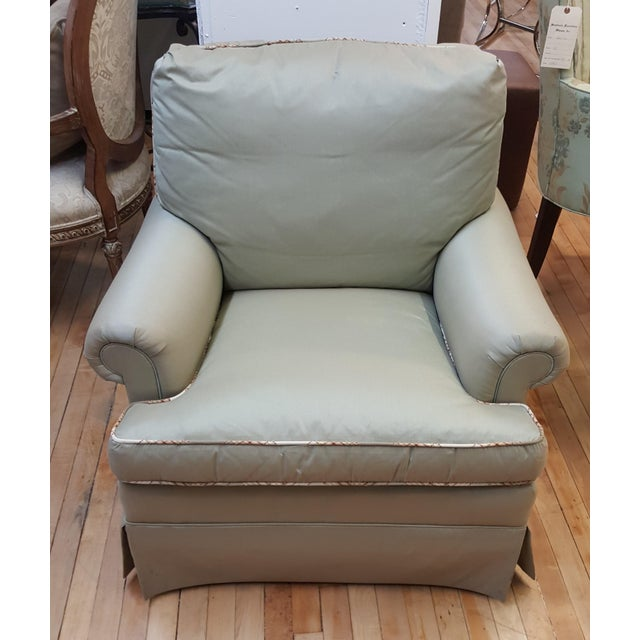 Green Hickory Chair Mint Green Club Chair For Sale - Image 8 of 8