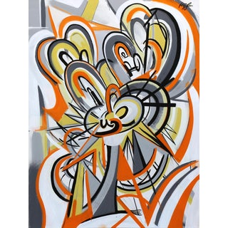 """Orange Swirl"" Original Artwork by Frankie Alfonso For Sale"