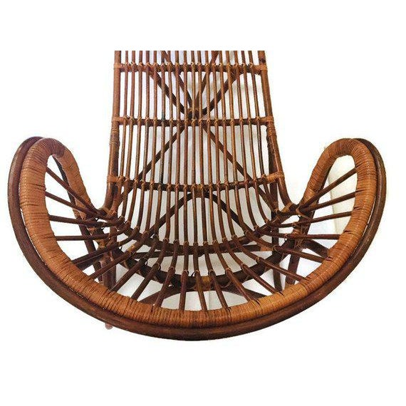 Mid Century Modern Franco Albini Chaise Lounge Sculpted Bamboo Daybed For Sale - Image 10 of 12