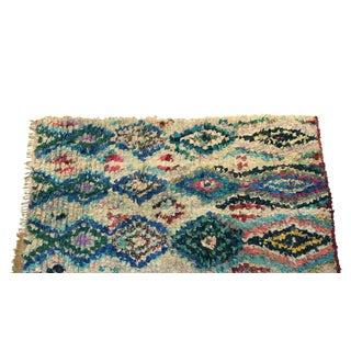 """Vintage Boucherouite Moroccan Carpet - 7'7"""" X 4'4"""""""