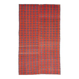 Vintage Orange & Gray Kilim Rug For Sale