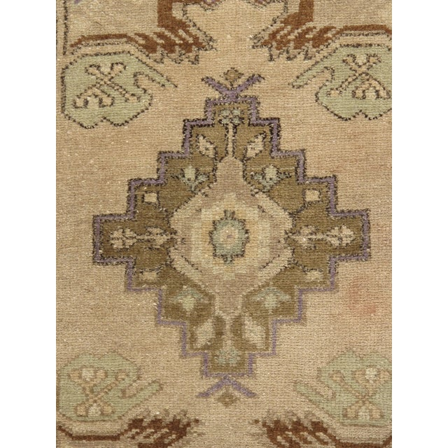 A vintage Turkish Yastik. Yastik's are small size rugs that are adaptions of traditional Turkish designs. Hand-woven in...