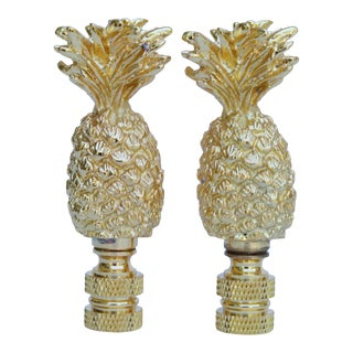 Pineapple Lamp Finials - a Pair For Sale