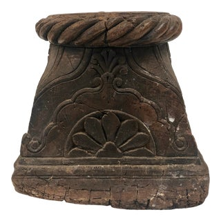 1920s Wood Architectural Element Plant Stand For Sale