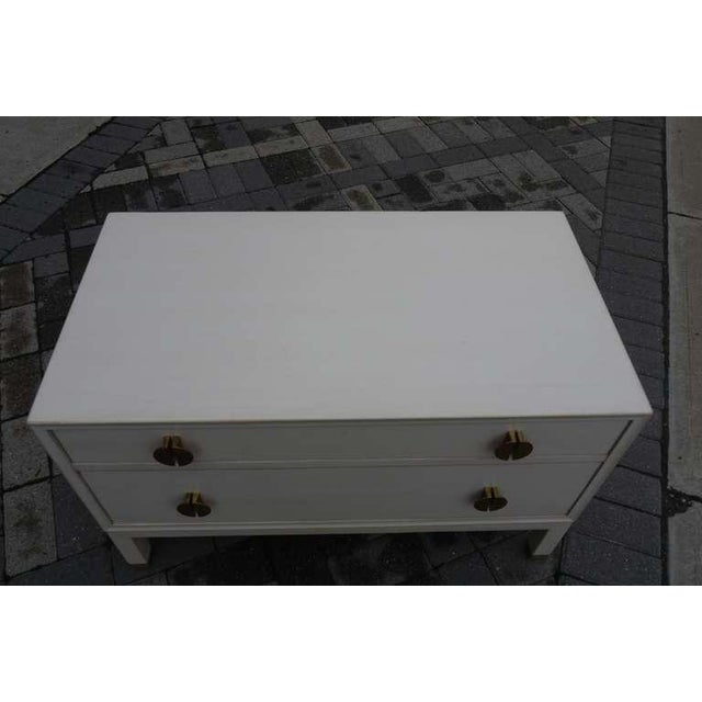 Faux Ivory Low Chest by Dunbar For Sale - Image 9 of 11