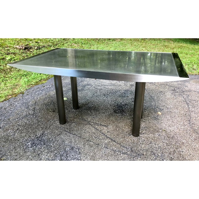 Stanley Friedman Stainless Steel Dining Table for Brueton For Sale - Image 13 of 13