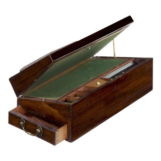 Circa 1790 English Georgian Mahogany Antique Lap Desk Writing Slope For Sale