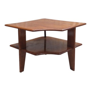 Heywood-Wakefield 3 Legged Corner Table For Sale