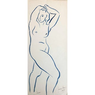 1957 Dancer Modern Drawing by James Bone For Sale