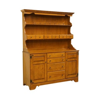 "Ethan Allen Heirloom Nutmeg 56"" Maple Buffet W/ Open Hutch For Sale"