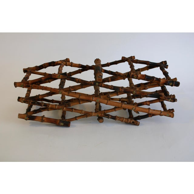 Vintage French Bamboo Wine Rack - Image 4 of 6