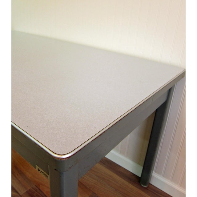 Mid-Century Haskell of Pittsburgh Industrial Table - Image 9 of 9