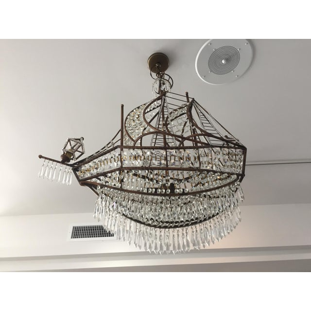 Baguès Spanish Galleon Ship Crystal Chandelier, Italy 1990s For Sale - Image 4 of 13