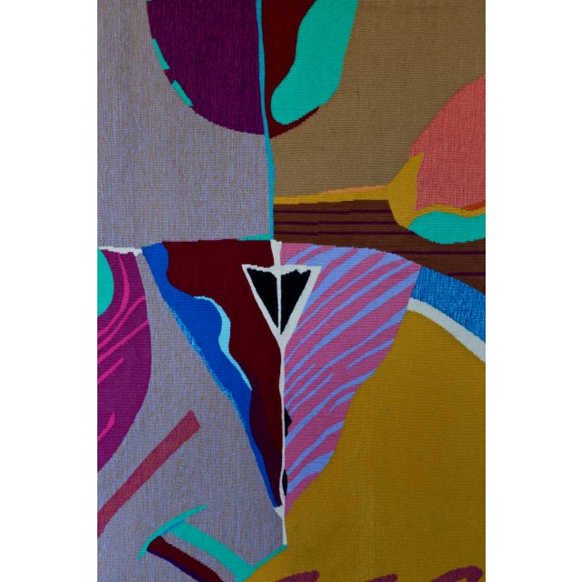 Abstract Contemporary Abstract Tapestry by Steve Zoller For Sale - Image 3 of 10