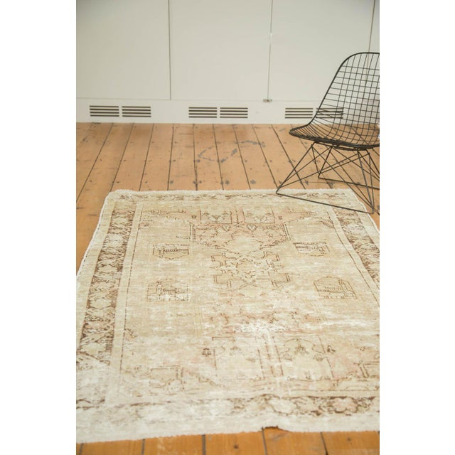 "Vintage Distressed Oushak Rug - 4' x 5'11"" - Image 8 of 10"