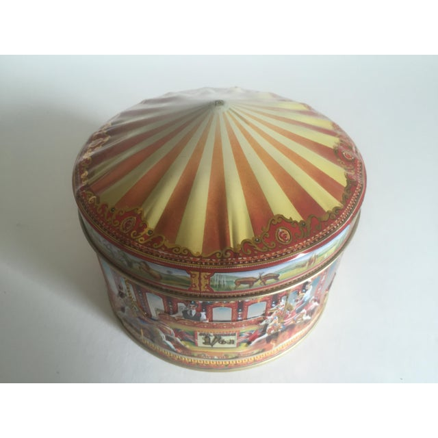 Vintage Churchill's Of London Carousel Candy Tin Box For Sale - Image 4 of 10