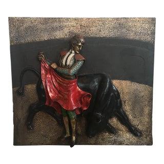Mid-Century Spanish Matador Wall Sculpture For Sale
