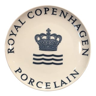 Mid Century C.1970s Royal Copenhagen Porcelain Signature Dinner Plate For Sale