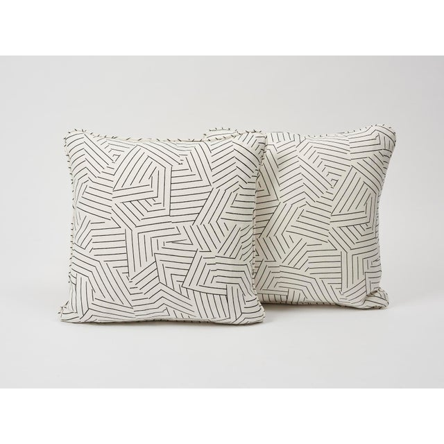 Schumacher Schumacher Pillow in Deconstructed Stripe Double-Sided Print For Sale - Image 4 of 8