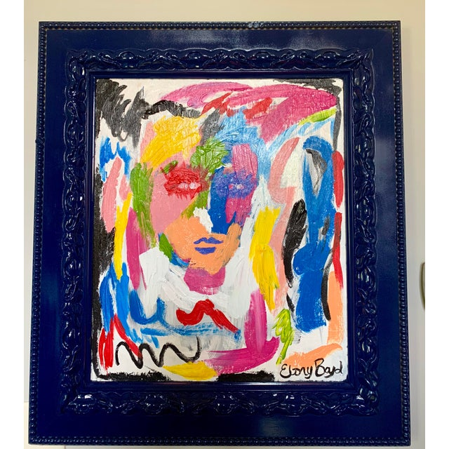 Ebony Boyd Framed Abstract Painting For Sale - Image 4 of 4