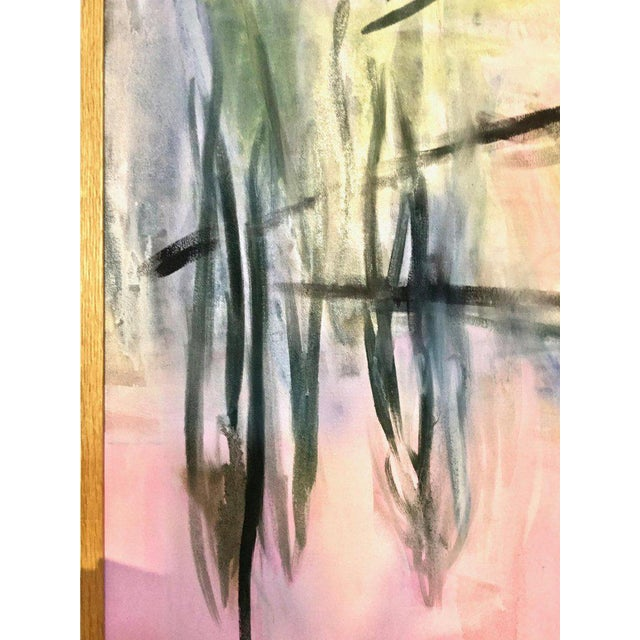Large Scale Abstract Painting, Custom Wood Frame For Sale - Image 4 of 12