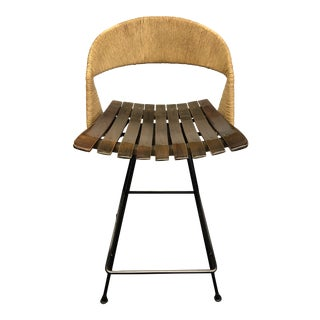Vintage Mid Century Modern Bar Stool by Arthur Umanoff For Sale