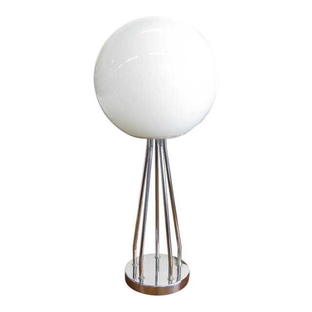 Mid-Century Modern Chrome Table Lamp - Image 1 of 11