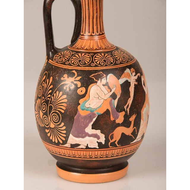 19th Century Greek Hand Painted Earthenware Amphora Lamp For Sale - Image 9 of 9